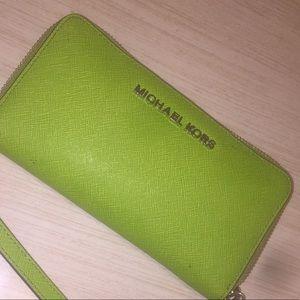 Michael Kors Bright Green Wallet
